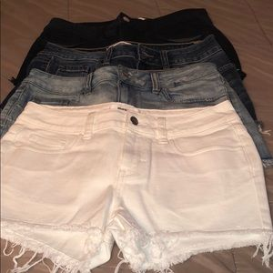 Pink by Victoria Secret Jean shorts / 4 pair new